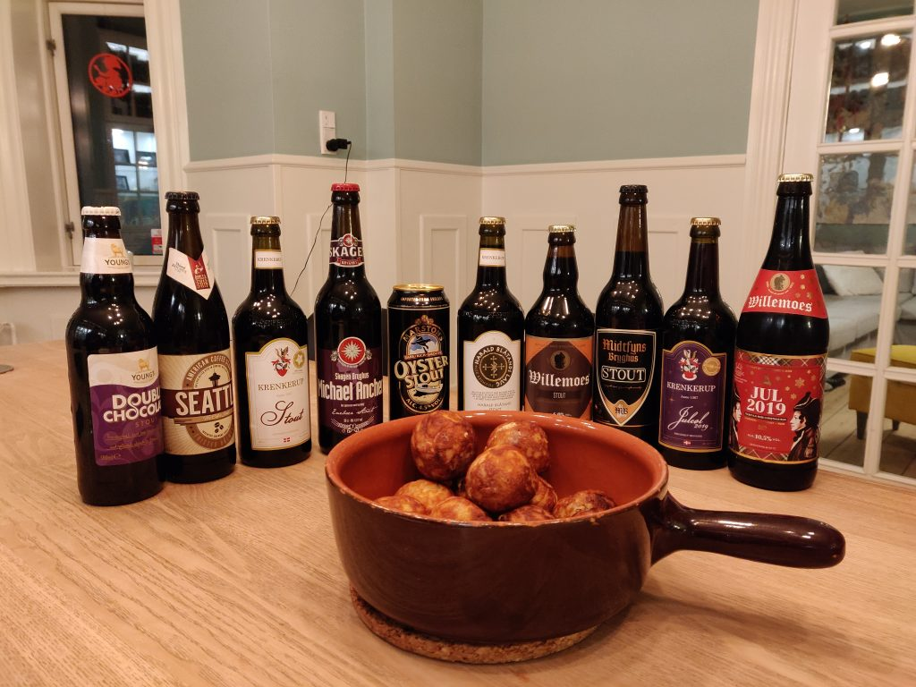 Bacon æbleskiver og stouts